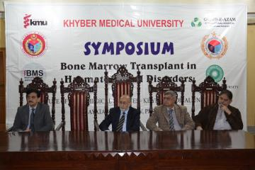 01-Medical Experts are sitting on stage during one day Symposium on Bone Marrow Transplant held at KMU (Custom)1518410261.JPG