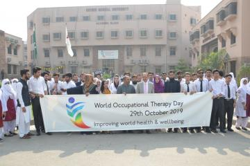 02--VC KMU Prof. Dr. Arshad Javaid along with others during a walk on World Occupational Therapy Day (Custom)1572411563.JPG