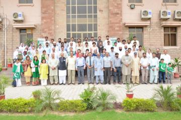 1.Group photo of participants of tree plantation opening ceremony along with VC KMU Dr Arshad Javaid at KMU (Custom)1534403633.JPG