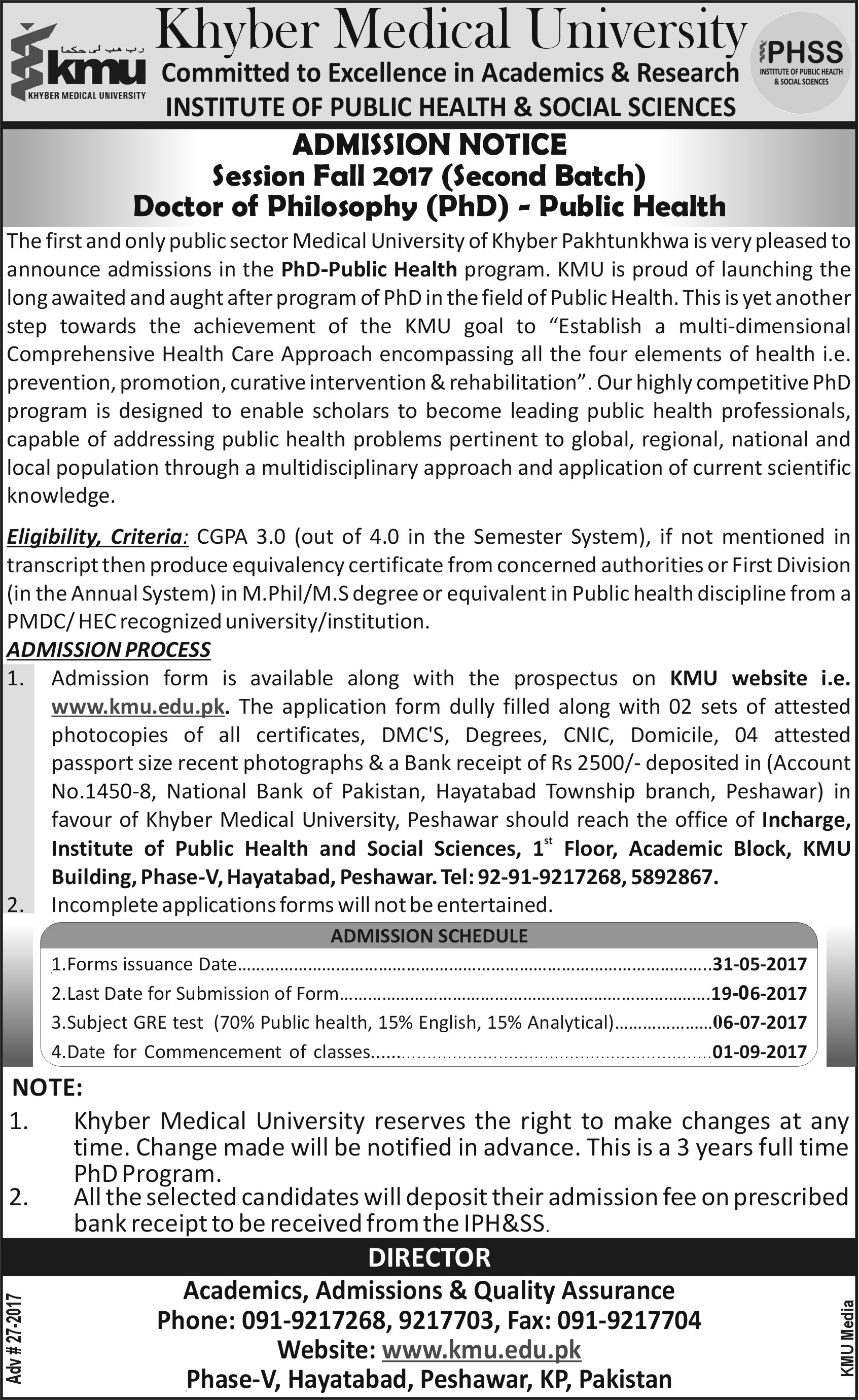 Admission%20Notice%20%28PhD%20in%20Public%20Health%29 Jinnah Medical College Admission Form on printable 9 employment, 941 quarterly tax, blank w2, civil service pds, irs tax, income tax, tax credit, nj state tax, print w2, california state tax, pennsylvania state tax,